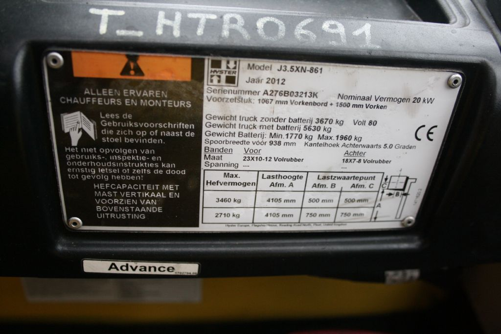 Hyster J3.5XN 861 Elektro 4 Rad-Stapler www.thuenemann-stapler.de