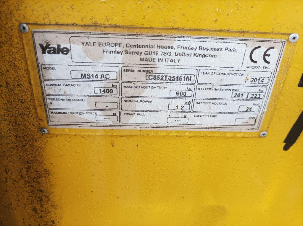 Yale MS14 AC Hochhubwagen www.thuenemann-stapler.de