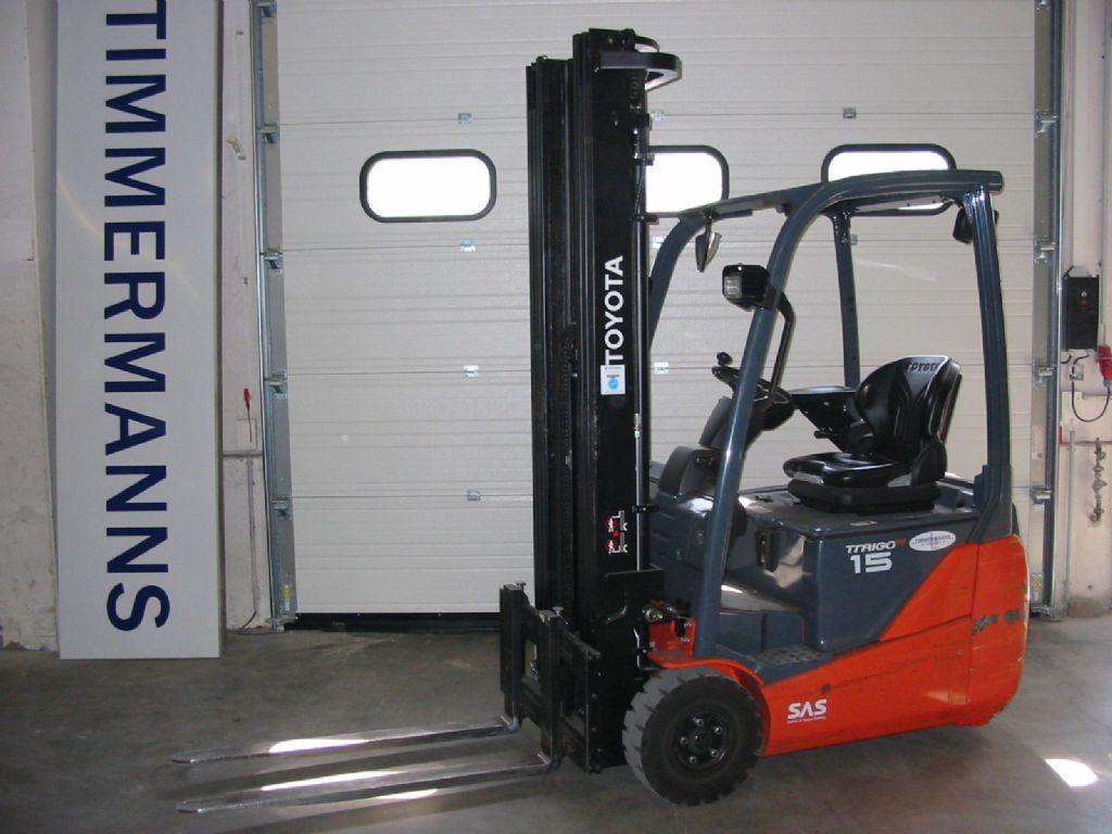 Toyota 8FBET15 Elektro 3 Rad-Stapler www.timmermanns.com