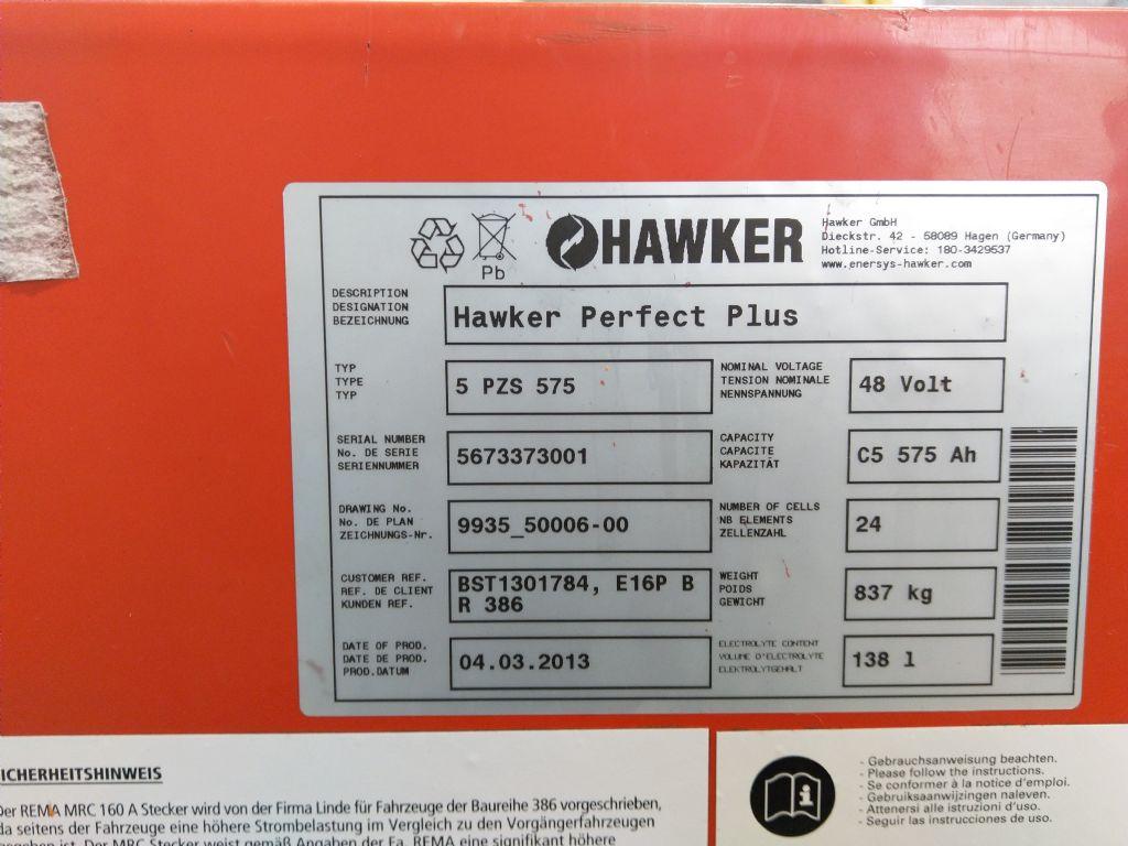Hawker-48V 5 PzS 575-Antriebsbatterie-www.tojo-gabelstapler.de