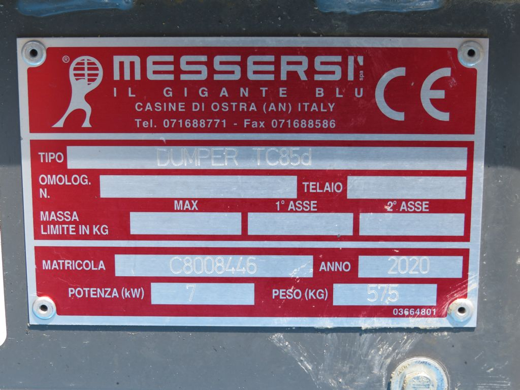 *Sonstige-Messersi TC85 d-Dumper-www.wilmes-mietservice.de