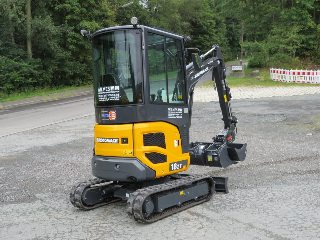 Eurocomach-1,8 t - ES 18 ZT-Minibagger-www.wilmes-mietservice.de