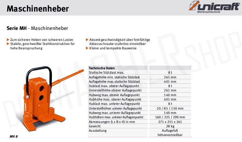 *Sonstige-Maschinenheber MH8-Hebezeuge-www.wilmes-mietservice.de