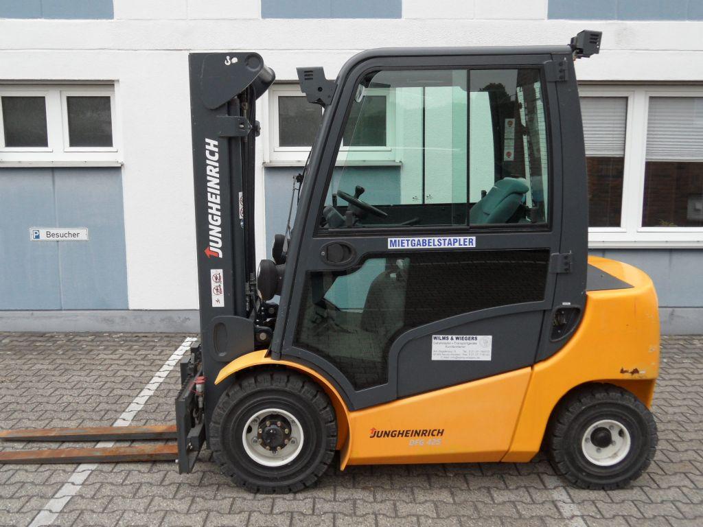 Jungheinrich-DFG 425 - 367 Stunden-Triplex-Kabine-Dieselstapler-www.wilms-wiegers.de