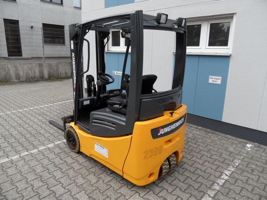 Jungheinrich-EFG 216 K - NEUE BATTERIE - Freihub!-Elektro 3 Rad-Stapler-www.wilms-wiegers.de