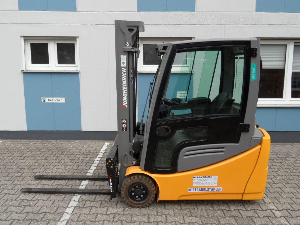 Jungheinrich-EFG 216 - ZV-Gerät - Triplex-Elektro 3 Rad-Stapler-www.wilms-wiegers.de