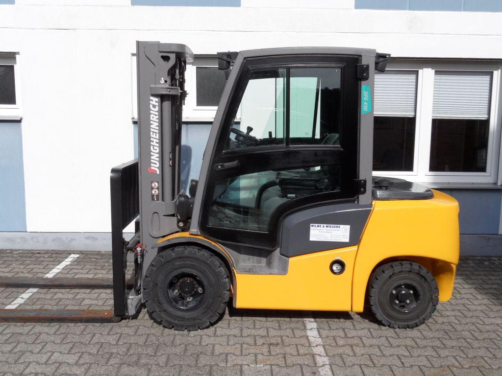 Jungheinrich-DFG 430 - Kabine - Triplex - 739 Stunden!-Dieselstapler-www.wilms-wiegers.de