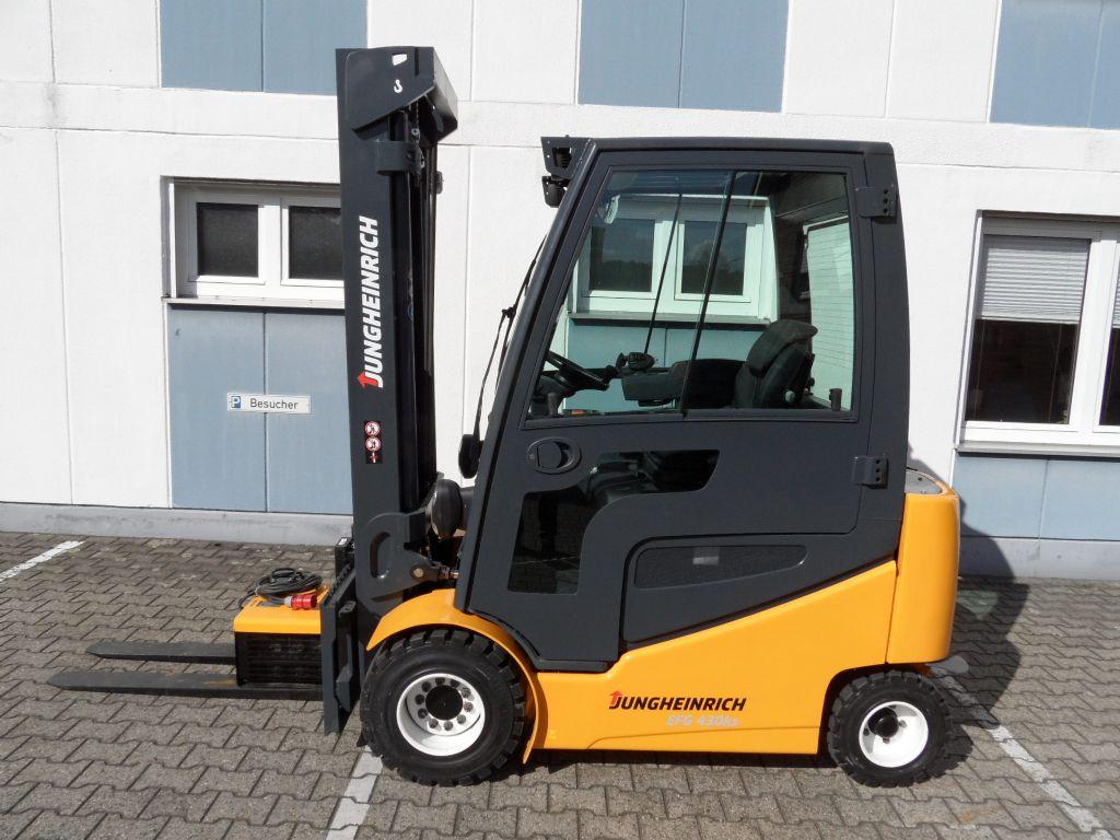 Jungheinrich-EFG 430ks - Triplex - Kabine-Elektro 4 Rad-Stapler-www.wilms-wiegers.de