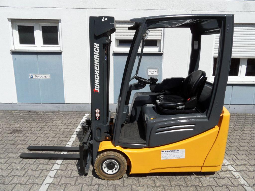Jungheinrich-EFG 216k - Triplex - weisse Reifen-Elektro 3 Rad-Stapler-www.wilms-wiegers.de