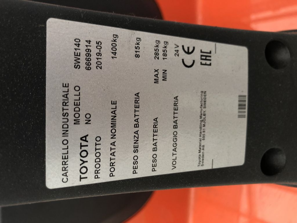 Toyota SWE 140 Hochhubwagen www.wst-stapler.at