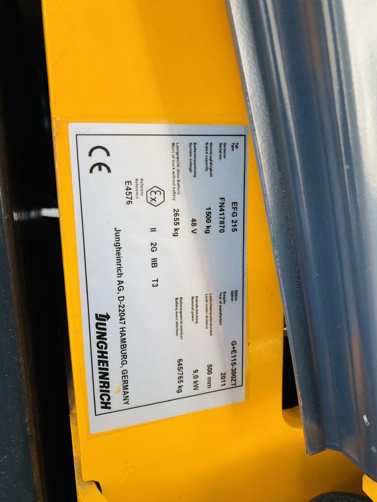 Jungheinrich EFG 215 Elektro 3 Rad-Stapler www.wst-stapler.at