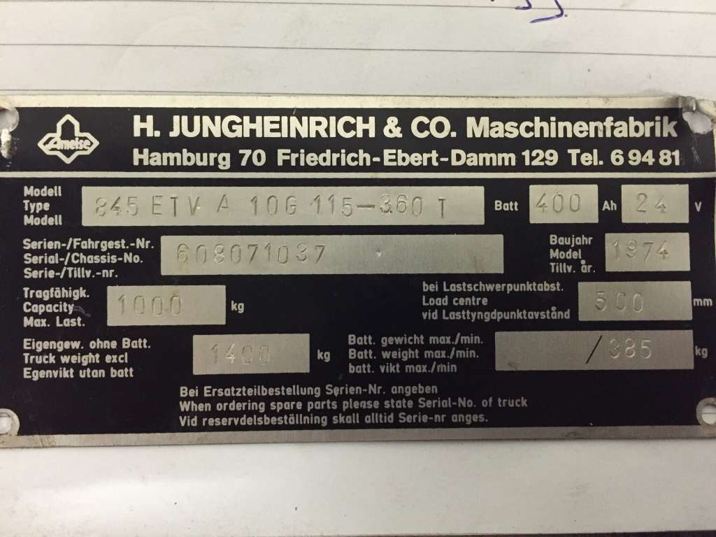 Jungheinrich ETVA 10G Engine www.wtrading.nl