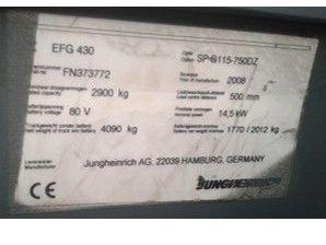 Jungheinrich-EFG430-Elektro 4 Rad-Stapler www.zeiss-forkliftcenter.at